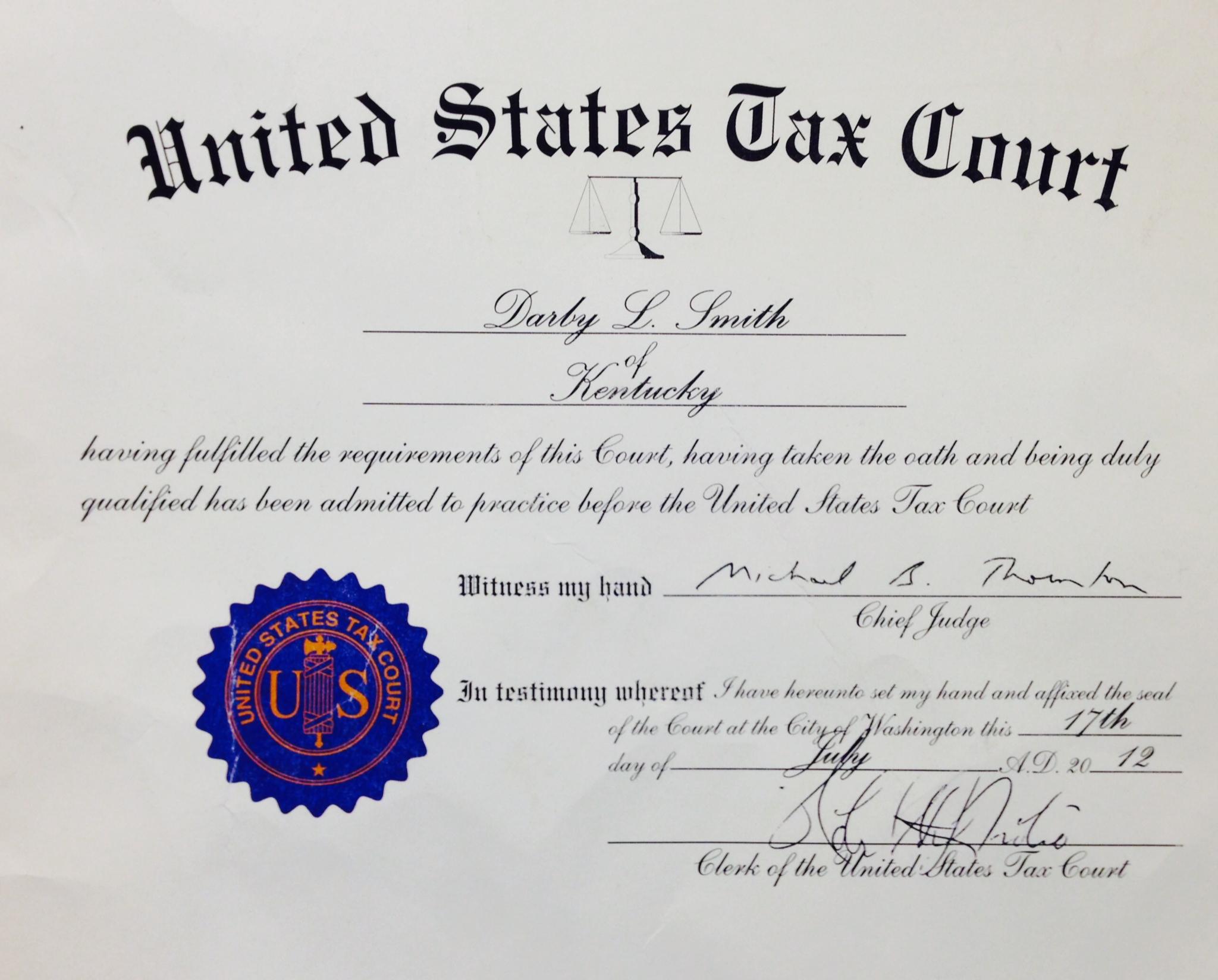 Qualifications 171 Tax Attorney